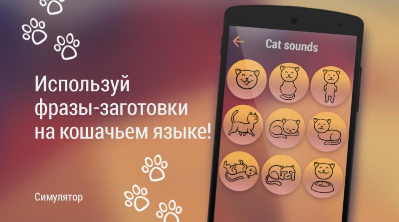Мобильный переводчик на кошачий для iOS/Android СОФТ
