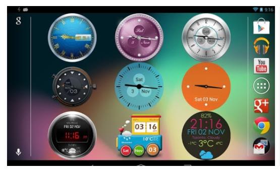 Beautiful Clock Widget pro для Android СОФТ