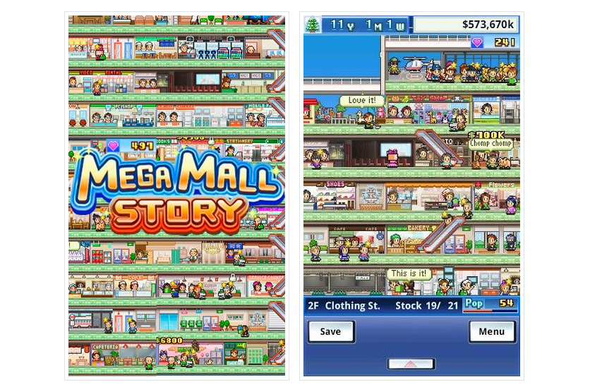 Mega Mall Story на Андроид Обучение